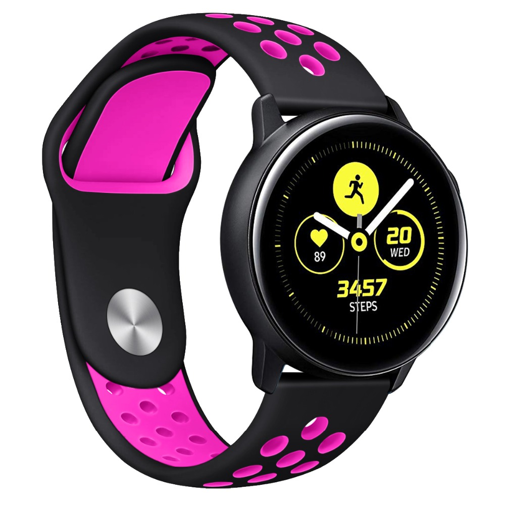 20mm Silicone Sport Watch Band Replacement Watch Strap Compatible For Samsung Galaxy Watch Strap For Huawei Watch 91027