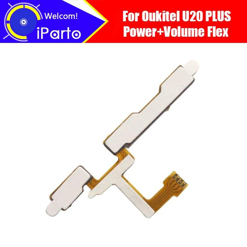 5.5 pouce Oukitel U20 Plus Bouton Latéral Flex Câble 100% Original Power + Volume Bouton FPC réparation accessoires pour U20 Plus.