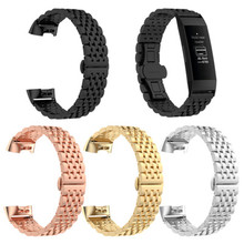 Metal Bands for Fitbit Charge 3 / 4 & Charge 3 SE Premium Stainless Steel Metal Strap Wristband for Women Men