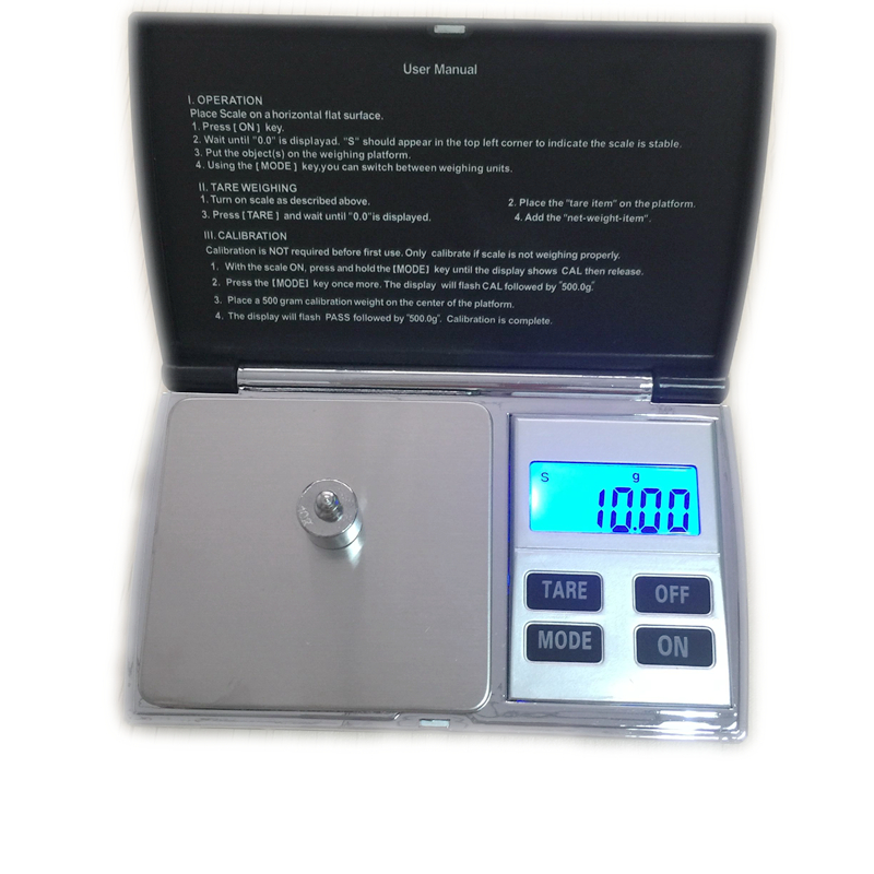 Bilancia elettronica da 500 grammi 0,01 g di precisione Mini scala digitale portatile in acciaio inossidabile Bilancia elettronica LCD Gram Lab Weight Balance