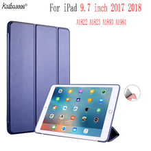 Kaibassce Tablet Case Flap Smart Sleep Silicone Back Case Cover for New iPad 9.7 inch 2017 2018 A1822 A1823 A1893 A1954 for ipad 9 7 inch 2017 case a1822 a1823 slim crystal clear tpu silicone protective back cover for new ipad 9 7 2018 a1893 case
