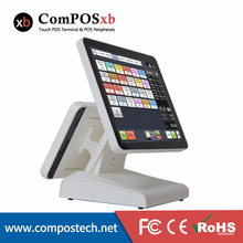 Dual Screen POS System 15 Inch Capacitive Touch Screen With 12 Inch Capacitive Touch Screen For Restaurant Oridering System