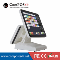 Dual Screen POS System 15 Inch Capacitive Touch Screen With 12 Inch Capacitive Touch Screen For