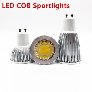 цена на Super bright GU10 light bulb dimmable warm / white 85-265V 6W 9W 12W gu10 COB lamp LED GU10/E27/E14 LED spotlight