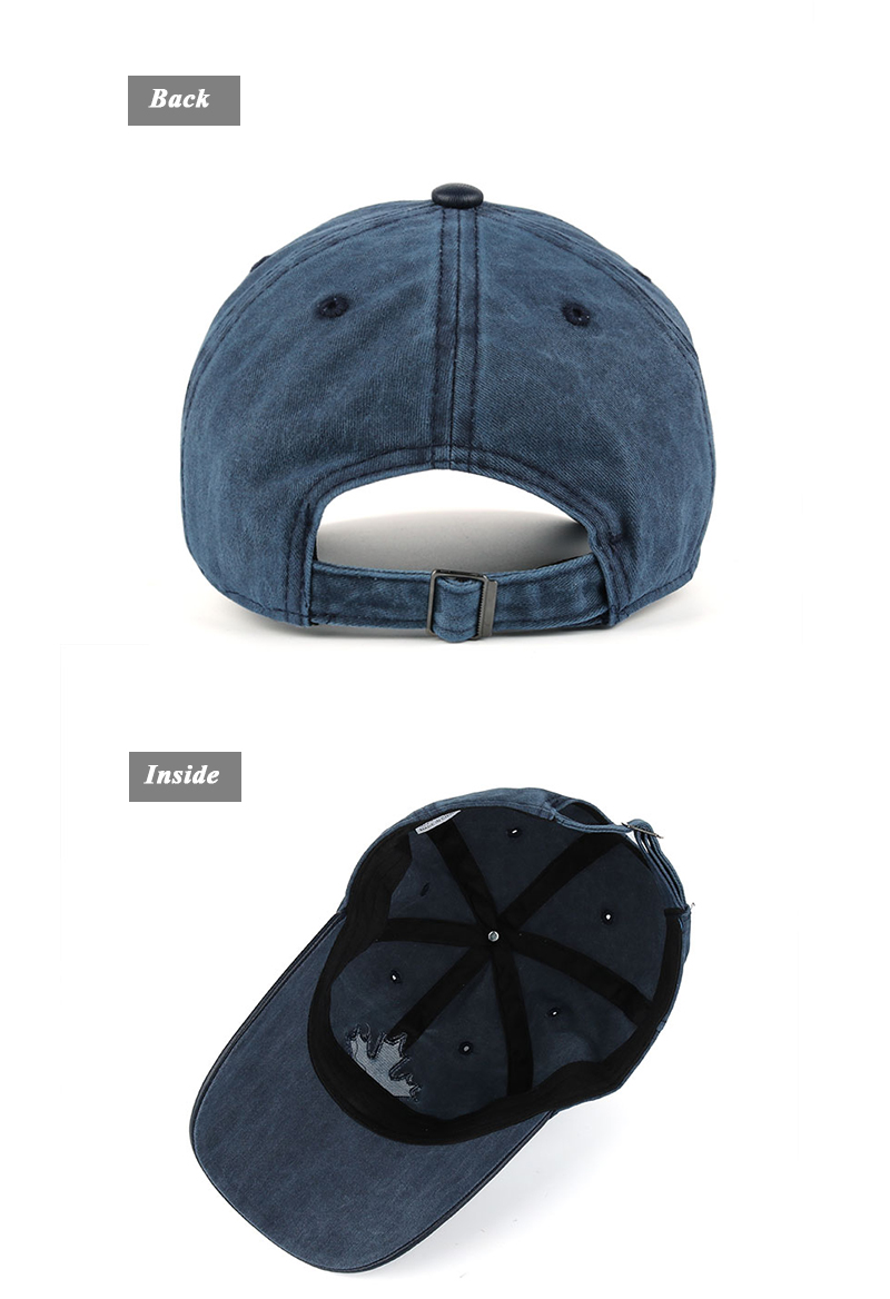 Embroidered Canadian Leaf Dad Hat - Rear and Inside Views