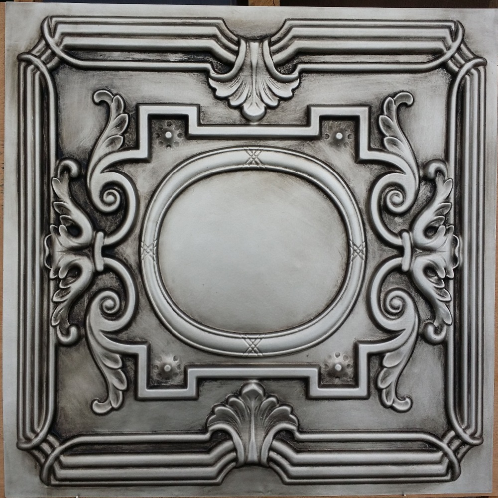antique emboss tiles faux product ceiling finishes metallic silver detail tin