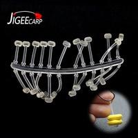 Jigeecarp 5 conjuntos = 60 pçs carpa pesca boillie pára equipamentos de cabelo rolha macio & rígido isca titular carpa gancho rigging pesca tackles|Caixa p/ equipamento de pesca| |  -