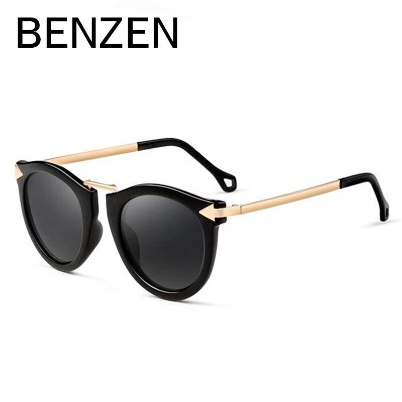 BENZEN Donne Occhiali Da Sole Polarizzati UV Vintage Freccia Femminile Occhiali Da Sole Oculos De Sol Feminino Gafas De Sol Con Il Caso 6034