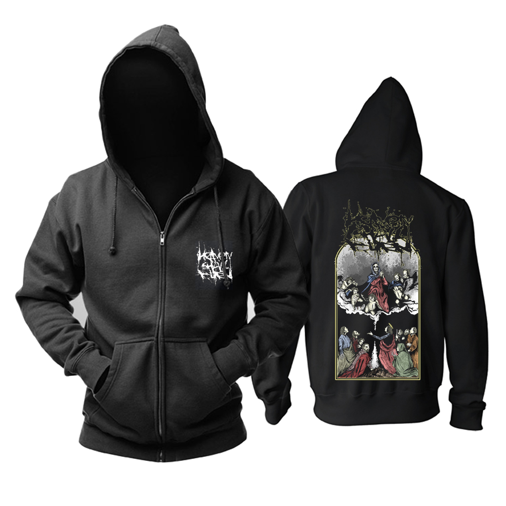 Bloodhoof จัดส่งฟรี HEAVEN SHALL BURN Omen Mens Metal Death ใหม่ Hoodie ขนาดเอเชีย-ใน เสื้อฮู้ดและเสื้อกันหนาว จาก เสื้อผ้าผู้ชาย บน   3