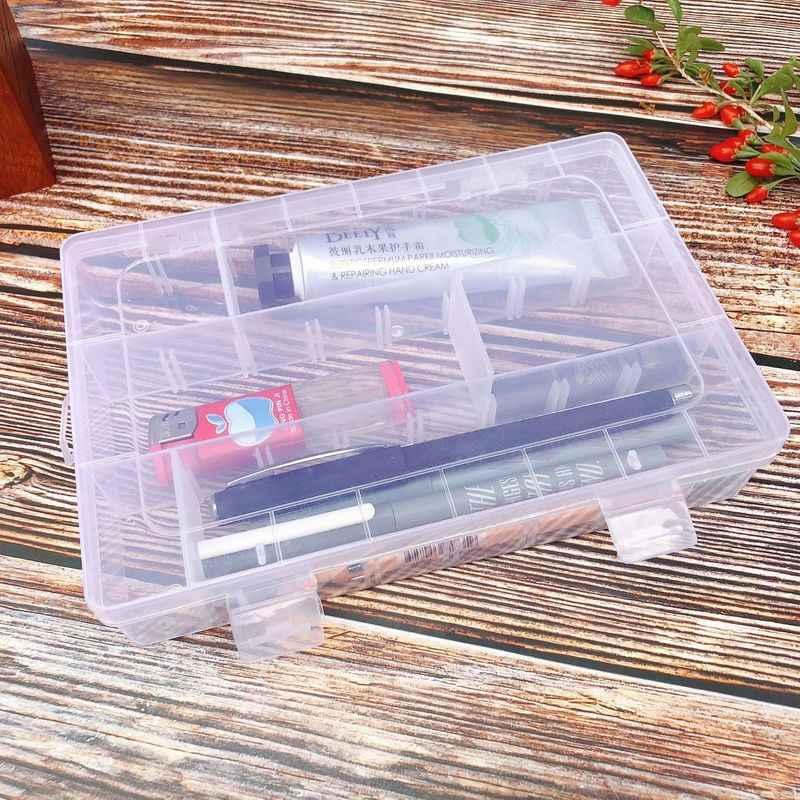 24 コンパートメント収納ボックス実用調節可能な透明ケースビーズリングジュエリーディスプレイオーガナイザーストレージボックス
