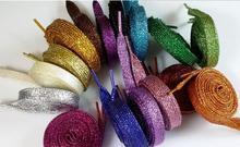 Fashion 110cm /43″ Metallic Glitter Shoelaces Shoe Laces String f. Sneaker Sport Shoe 17 Colors Available Running Shoelace