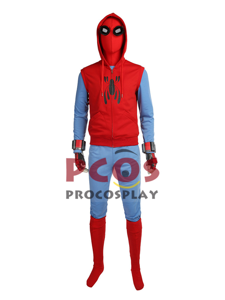 Spider Man:Homecoming Spiderman Spider-Man Peter Parker Cosplay Costume Sweater Suit mp003831