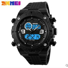 Wholesale Free shipping China Custom Plastic Cool Light Fashion Big Mens Boy Waterproof LED Alarm Electronic digital-watch