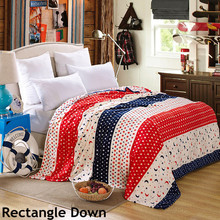 Rectangle Down COZY NAP CUTE BLANKETS FLUFFY PLUSH SOFT bedspread bedroom home family textile coral sheet