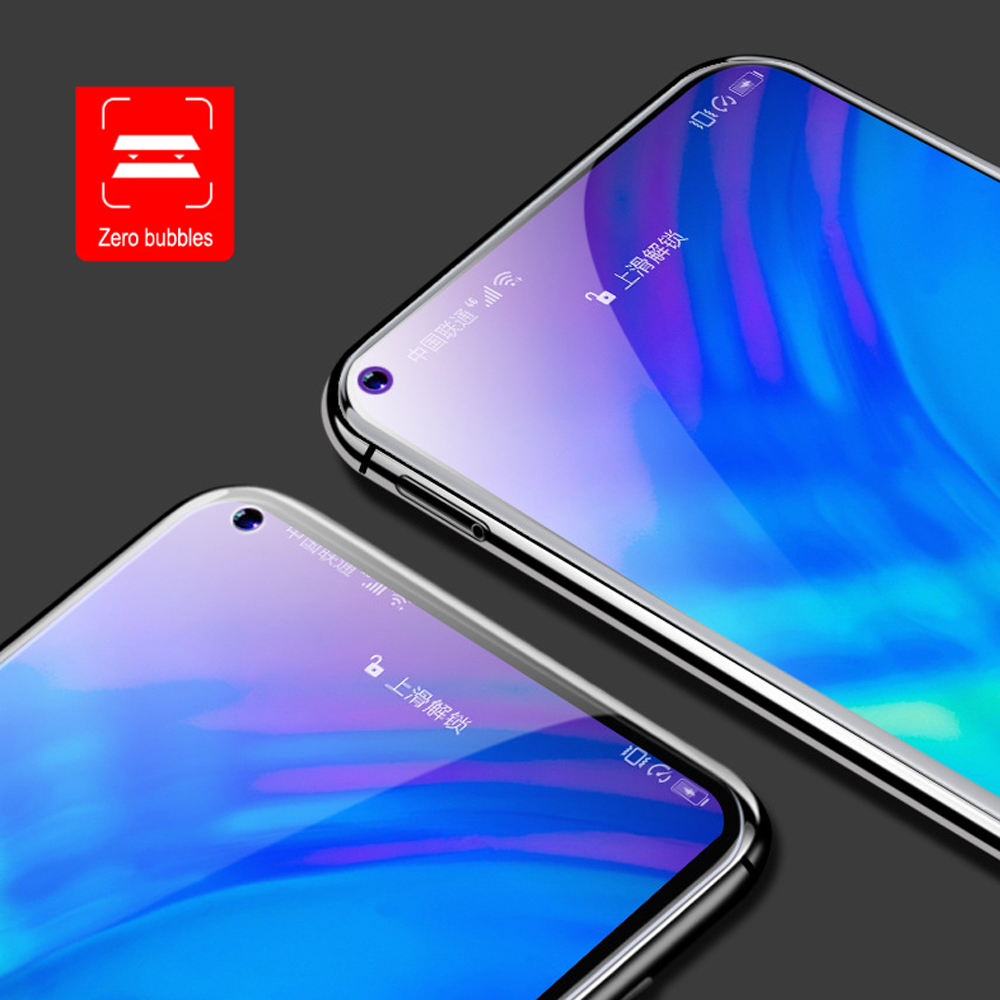 9D full coverage Tempered Glass For Huawei Honor 10 V20 20 PRO Screen Protector Protective Film Anti Blue Ray in Phone Screen Protectors from Cellphones Telecommunications