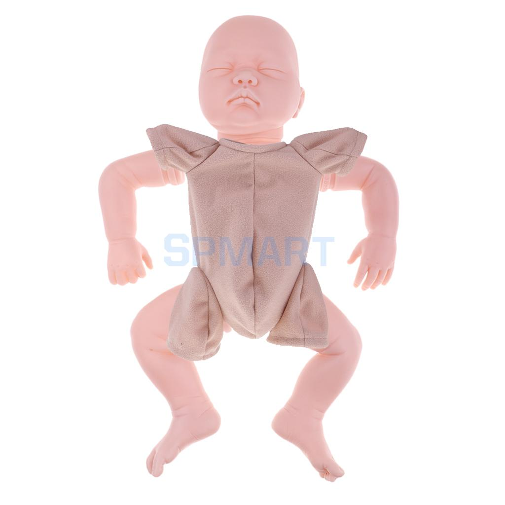 Real Touch Silicone 22 inch Reborn Kit Awake Baby Doll Blank Head Limb Mold and Cloth