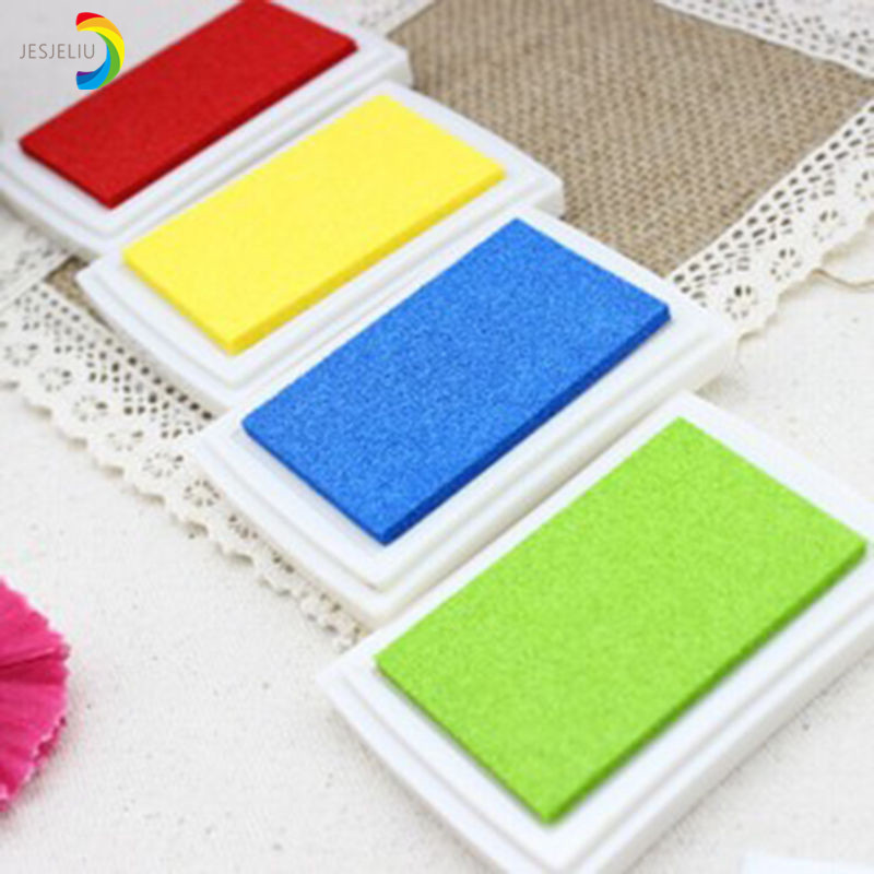 Diy Homemade Gradient Color Ink Pad Multicolour Inkpad Stamp Decoration Fingerprint Scrapbooking Accessories Badge Holder & Accessories
