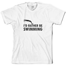 Id Rather Be SwimmER- Mens T-Shirt - DiverMans Unique Cotton Short Sleeves O-Neck T Shirt Print Sleeve Hot