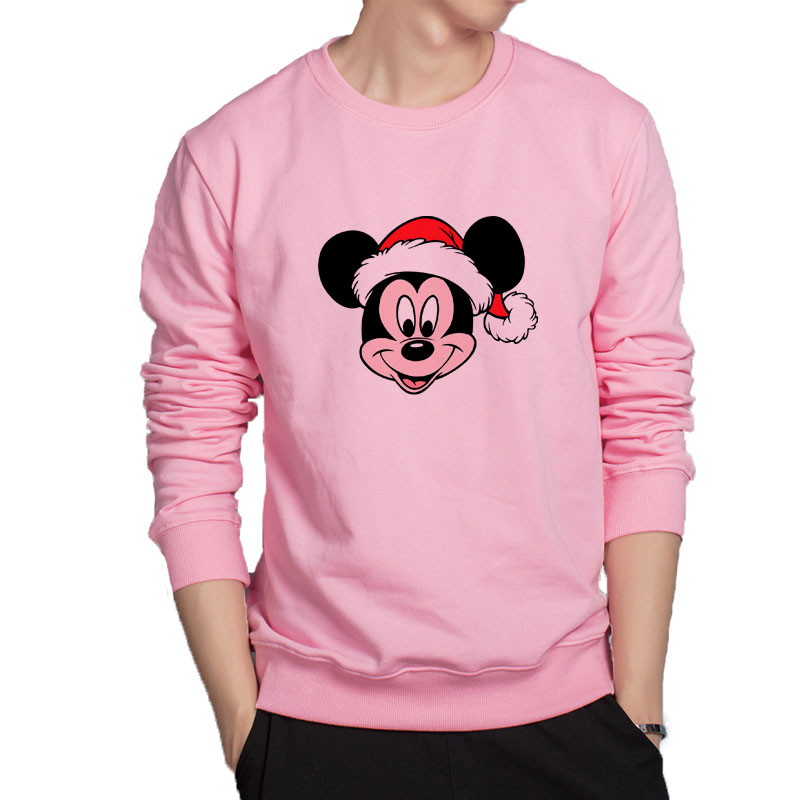 Christmas Mickey hoodies super cool lovely cartoon hoodie men popular cartoon sweatshirt casual cotton outwear cool clothes