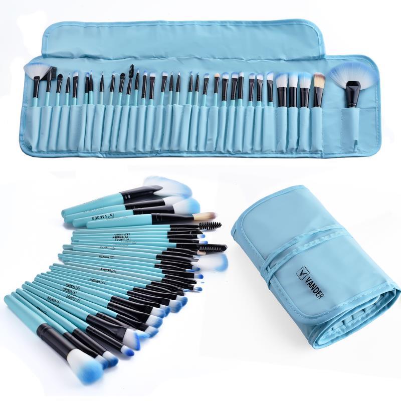 32 piezas maquillaje profesional de los cepillos conjunto cosmético belleza Kit