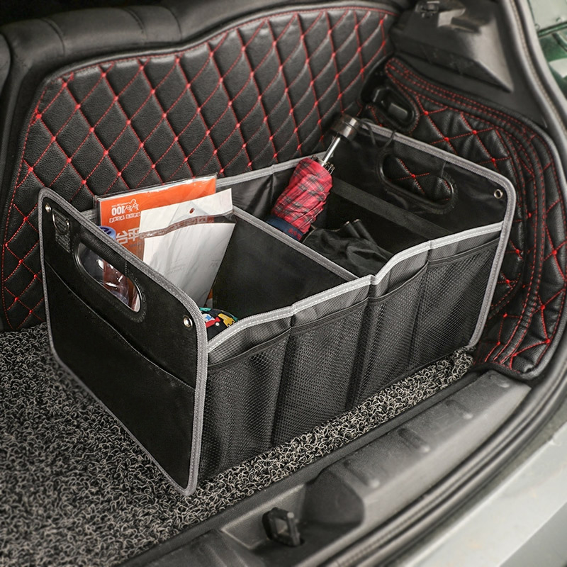 Car Collapsible Organizer Space Saving Trunk Storage Box Tidy Auto Folding Bag For Mini Copper One JCW S Countryman Car Styling car trunk storage bag oxford cloth folding truck storage box car trunk tidy bag organizer storage box with cooler bag