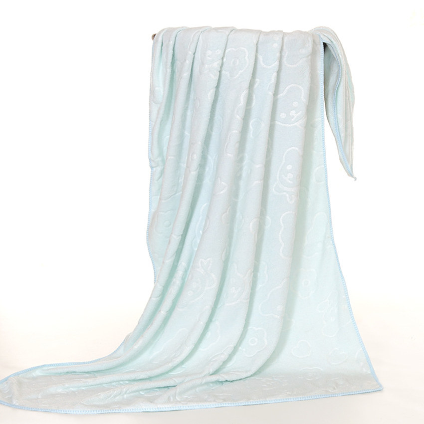 5Pcs Bath Towel 70*140cm Microfiber Cute plain embossed cartoon children adult Bath Towel Bathroom Home textile towel