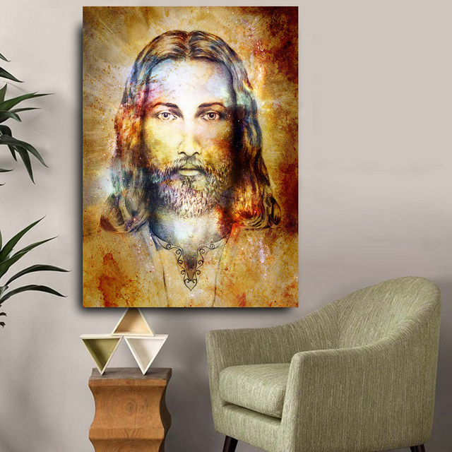Embelish New Design Jesus Christ Figure HD Wall Pictures For Living Room Quality Canvas Oil Painting Home Decor Posters Artworks