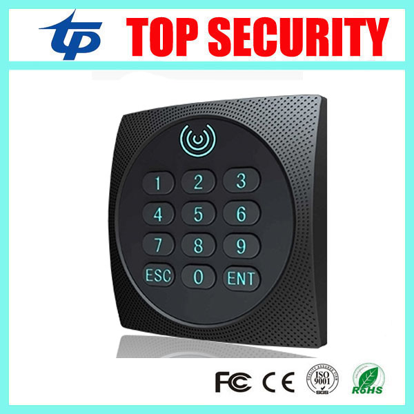 Free shipping zk access control card reader weigand34 MF card IC card reader IP64 waterproof smart card reader with keypad KR602 outdoor mf 13 56mhz weigand 26 door access control rfid card reader with two led lights