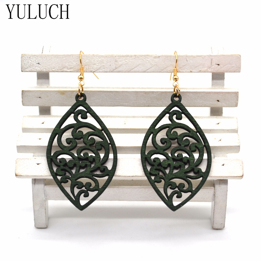 YULUCH free shipping fashion women New Jewelry wholesale Geometric natural wood earrings for