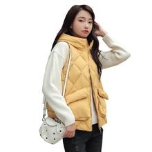 Autumn Winter Vest Women Waistcoat 2020 Female Sleeveless Jacket Hood Warm Hooded Colete Feminino