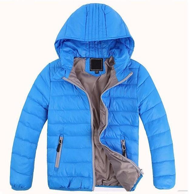 Varejo novo 2017 hildren outerwear meninos meninas grossas de inverno quente sólidos moda casacos casacos, crianças coreano de down parkas 7 cores