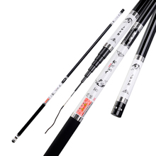 Telescopic Fishing Rod High Carbon Fishing Rod 2.7M-8.0M Portable Ultra-light Pole Fishing Super Hard 28 Tonal Carp/Stream Rod
