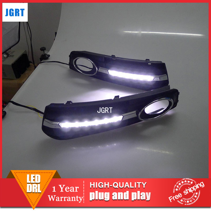 car styling 2009-2011 For Audi A4L LED DRL For A4L led fog lamps daytime running light High brightness guide LED DRL led car light for audi a4 a4l b8 2009 2010 2011 2012 car styling led drl daytime running light daylight fog lamp cover hole