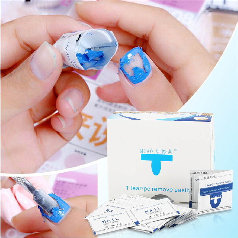40pcs Set Gel Polish Remover Wraps P Manicure Tools Wet Wipes Paper Foil Nail Art Cleanser To Led Uv In From Beauty