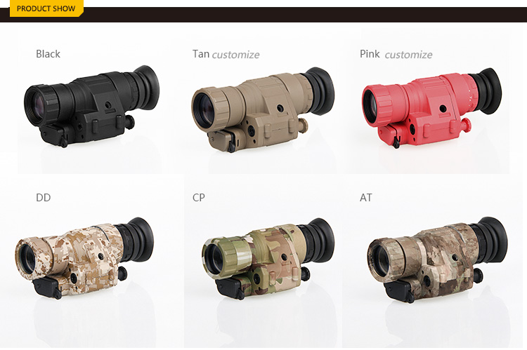 Free Shipping 6 Style Digital PVS-14 Tactical Night Vision Scope For Hunting Wargame gs27-0008 new design digital pvs 14 night vision scope for hunting wargame cl27 0008