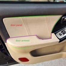 4 adet araba Styling mikrofiber deri iç kapı kol dayama paneli kapağı Trim Hyundai Elantra 2004 2005 2006 2007 2008 2012