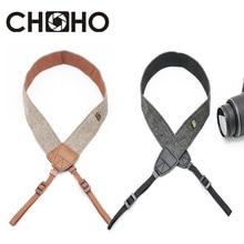 Ремень для камеры Универсальный Регулируемый хлопковый кожаный плечевой ремень плетеный держатель для Canon sony Nikon аксессуары для зеркальных фотоаппаратов часть