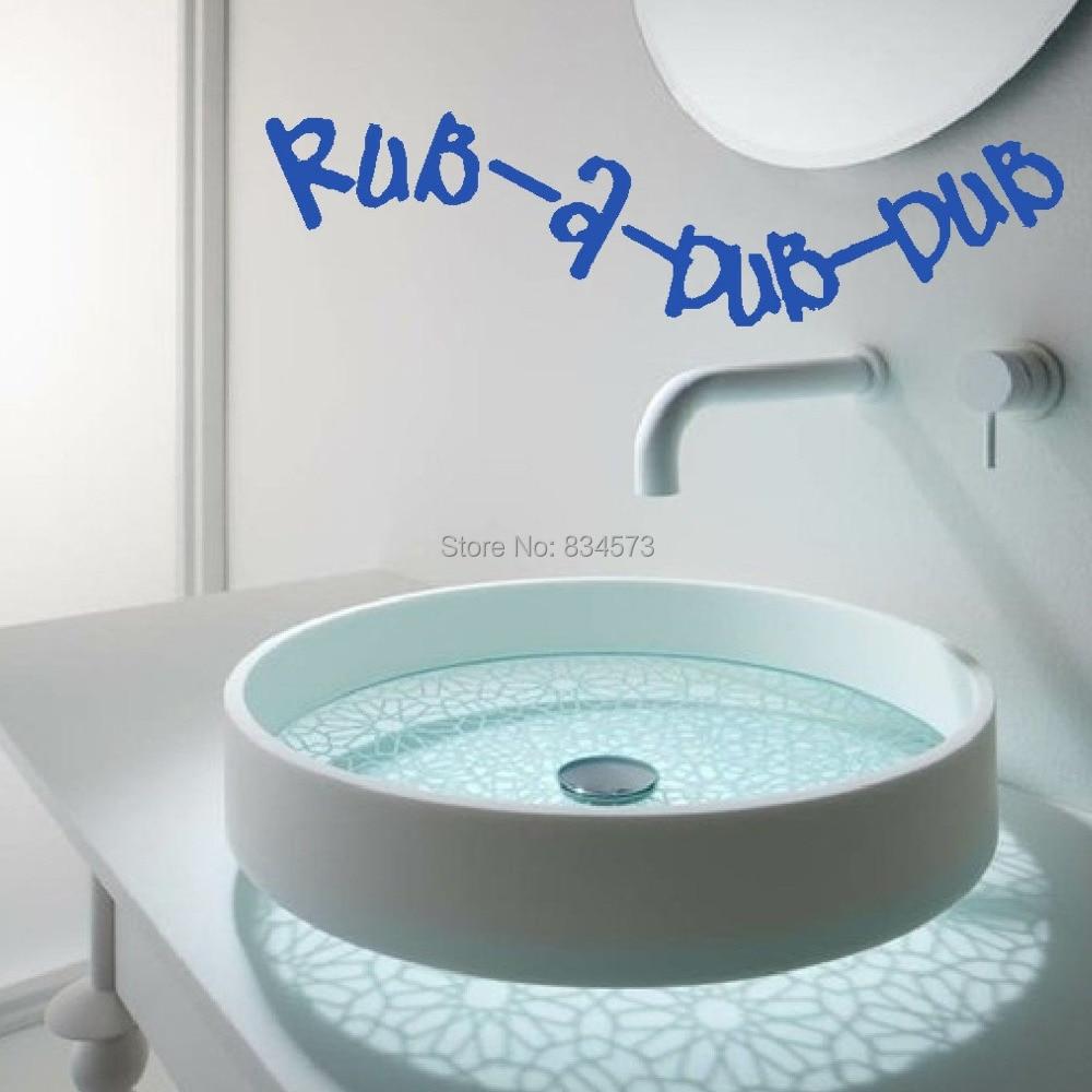 Rub A Dub Bathroom Kitchen Quote Wall Art Sticker Decal DIY Home ...