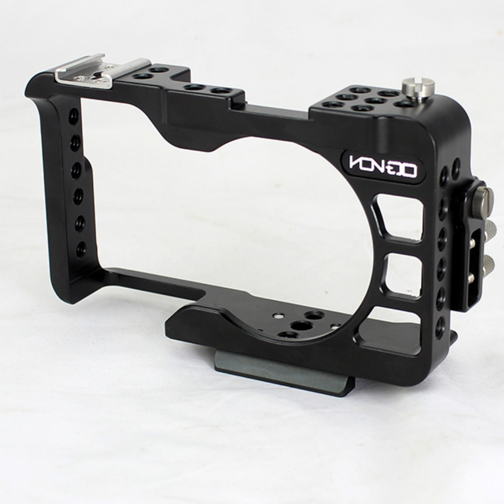 HONTOO A6300 Cage DSLR A6 RIG 15mm rail system with 1/4 screw hole A6300 A6500 cage rig FOR SONY A6300 A6500 lanparte ofc 02 adjustable z shape offset clamp for 15mm rail system rig dslr video rig