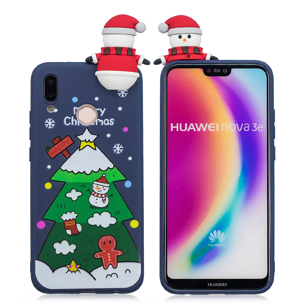 30/Pcs Christmas Gift Phone Case For Huawei P20 Lite Cute 3D Cartoon Soft Case Cover On For Huawei P20 Lite Fundas Coque