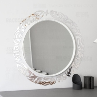 Mirror Wall Stickers Room Decoration Decor Bedroom Sticker House Living Round Circle Totem Garland Wreath Border Frame R074