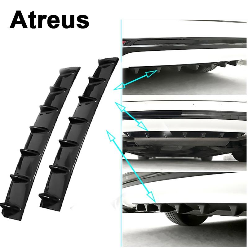 Atreus Car Rear Bumper Exhaust Pipe Chassis Shark 7 Wings Spoiler For Lexus Honda Civic Opel astra h j Mazda Kia Rio Ceed Volvo