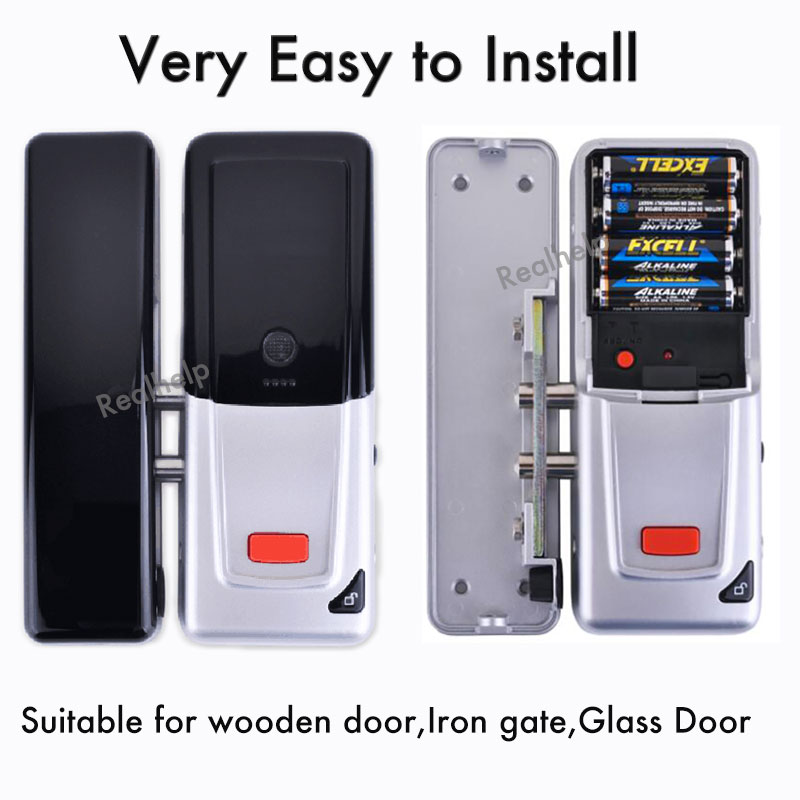 Fit for all kinds of door Wireless Door Lock Security Keypad Digital Keyless Door Lock Hold on 2000KG Entry Office Acces