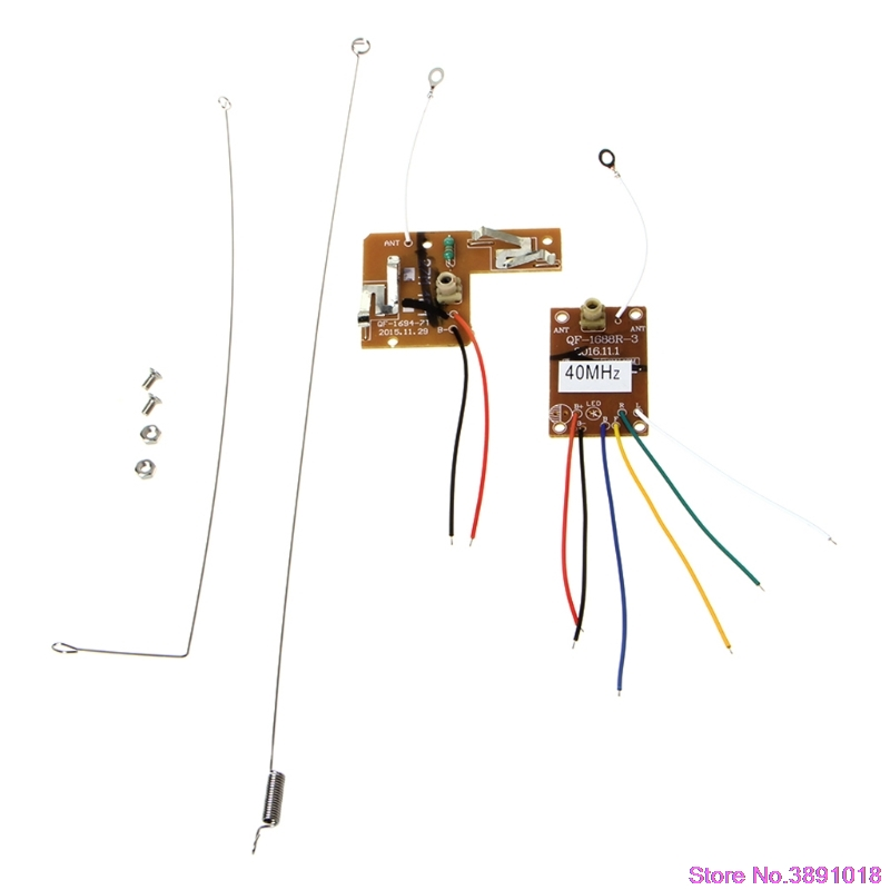 New 4CH <font><b>40MHZ</b></font> Remote Transmitter & Receiver Board with Antenna for DIY RC Car Robot image