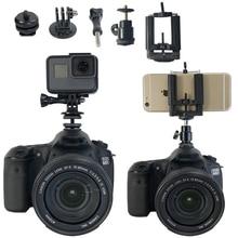 Адаптер для крепления на горячий башмак 1/4 дюйма, Крепление для штатива, мост для Canon, Nikon, SONY, SLR, для GoPro, SJCAM, Xiaomi, Yi, аксессуары для экшн камеры