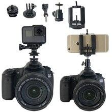 Adaptador de montaje para trípode de 1/4 pulgadas, puente para Canon, Nikon, SONY, SLR, GoPro, SJCAM, Xiaomi Yi, accesorios para Cámara de Acción