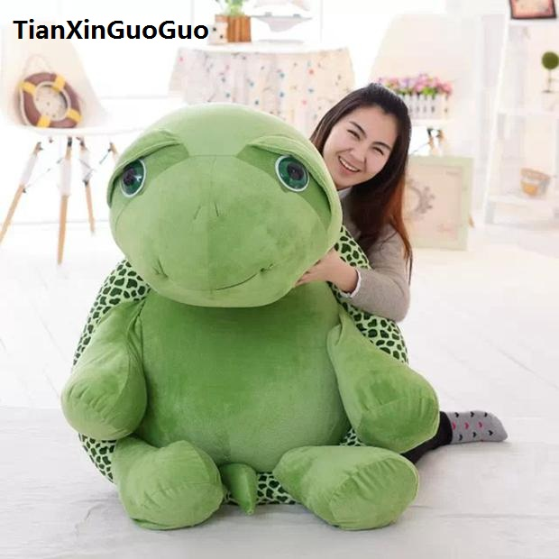 stuffed toy large 95cm cartoon tortoise plush toy lovely green turtle soft doll hugging pillow birthday gift s0918 lovely panda in green 70cm plush toy glasses panda doll soft pillow christmas birthday gift x035