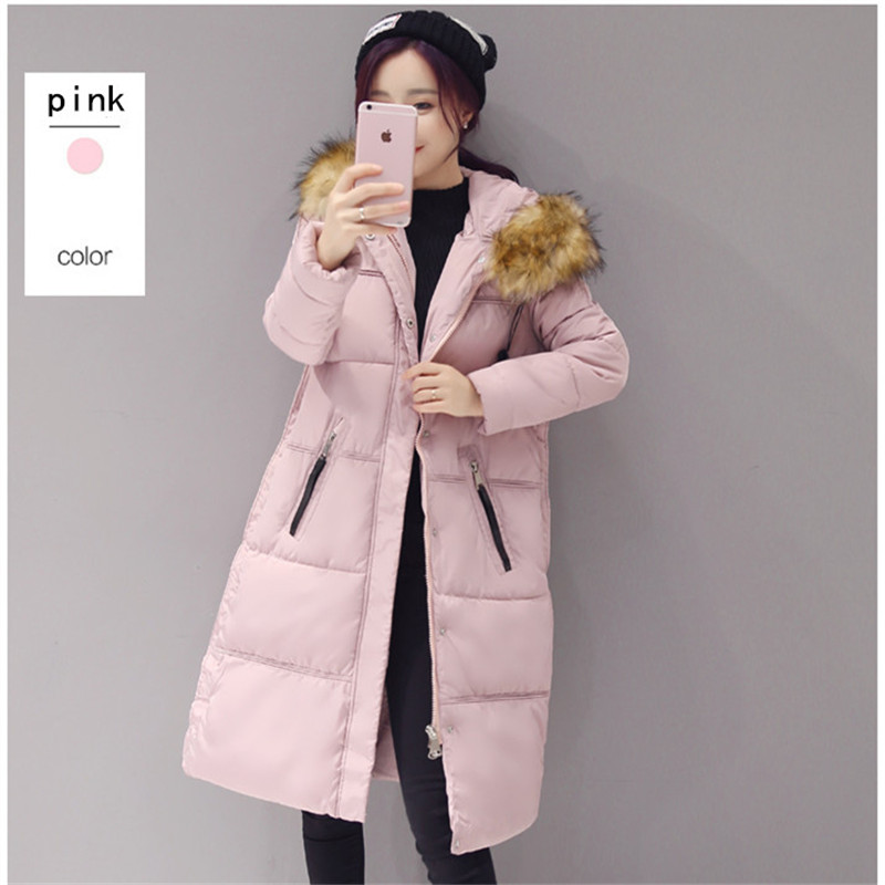 women coats 2016 winter warm full sleeve thick cotton down button pockets fashion slim coat