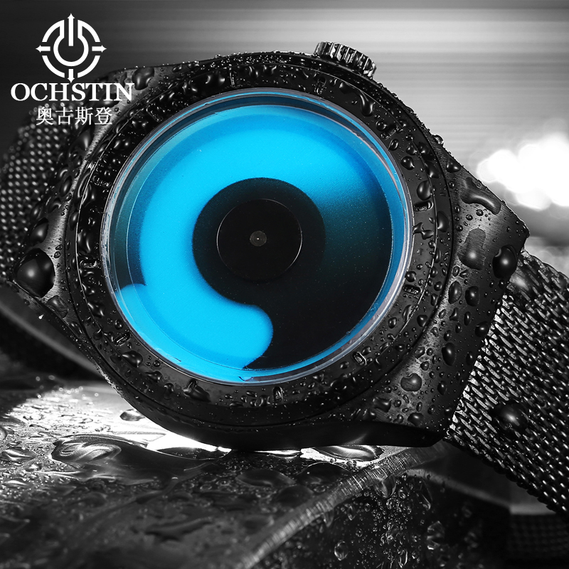 Fashion OCHSTIN Men Watches Steel Mesh Strap Waterproof Quartz Wrist Watch Male Clock 2017 Hour Montre Homme 076B Black Free босоножки sisley sisley si007awqdi32