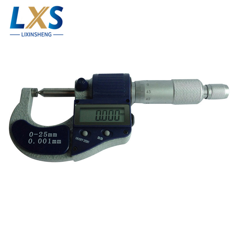 Single Point Digital Micrometer 0 25mm/0.001 Probe 60 degree inch/mm Blade Tip Brobe Caliper Mesauring Tools